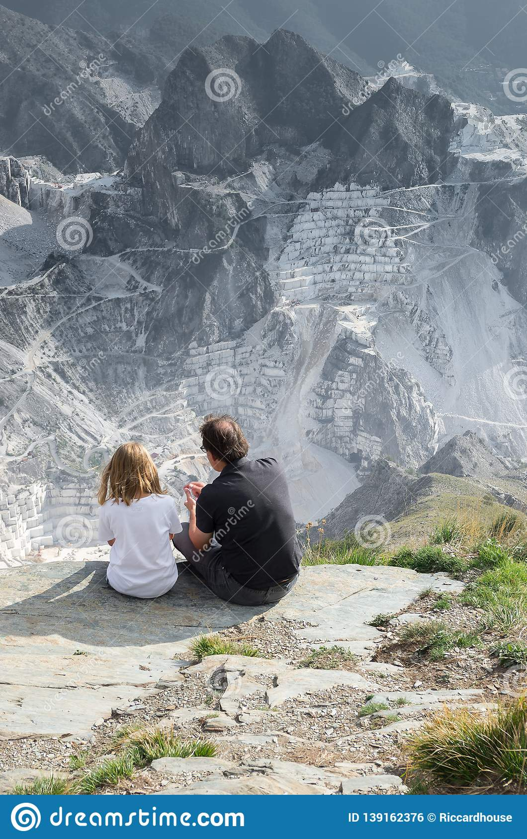 Famous Italian marble quarries, Carrara