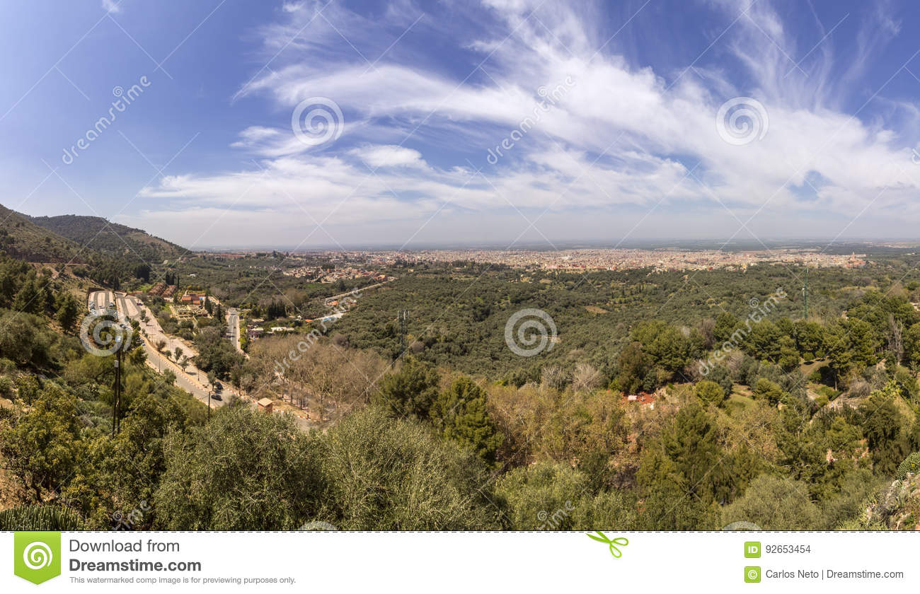 Panoramic view from fortress named Kasbah Ras el-Ain