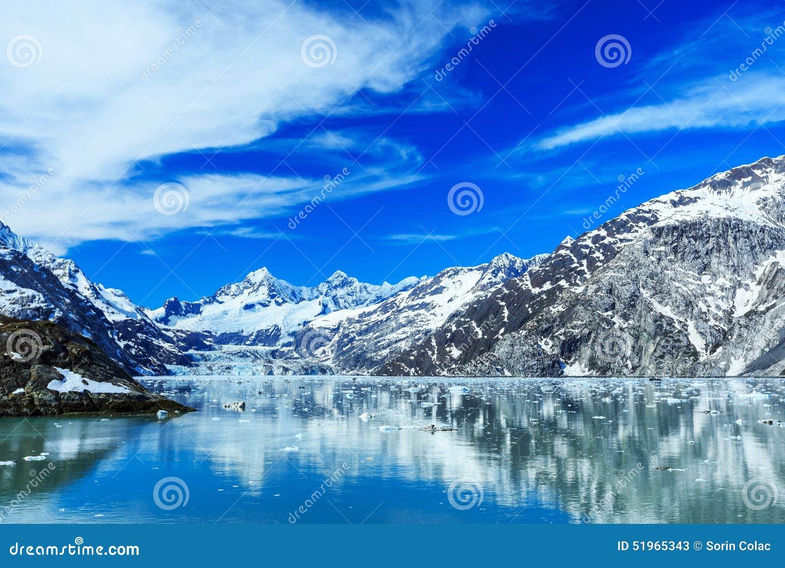 Panoramic View Of Glacier Bay National Park Alaska Stock
