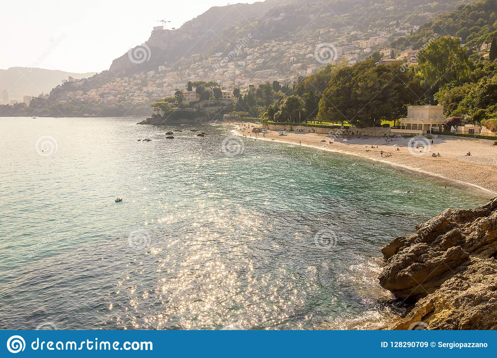 Panoramic view of the Gulf of Cabbé in French Riviera