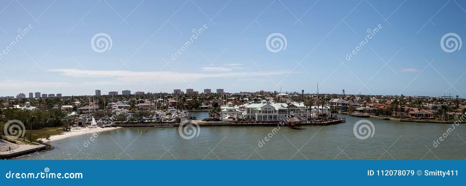 Panoramic view headed onto Marco Island, Florida