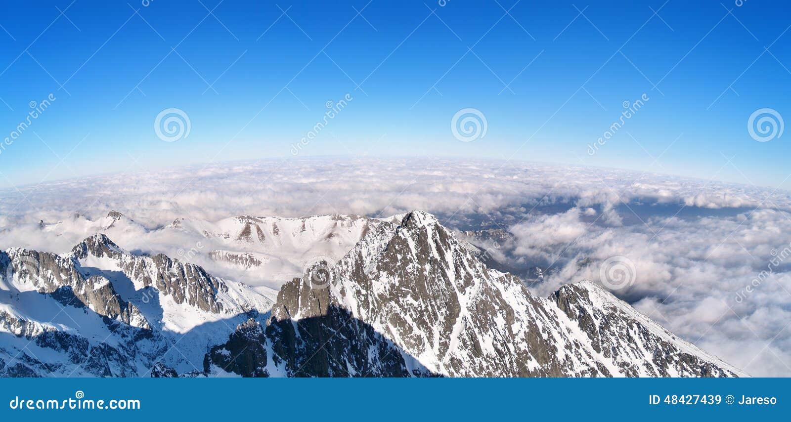Panoramic view of the High Tatras, Slovakia