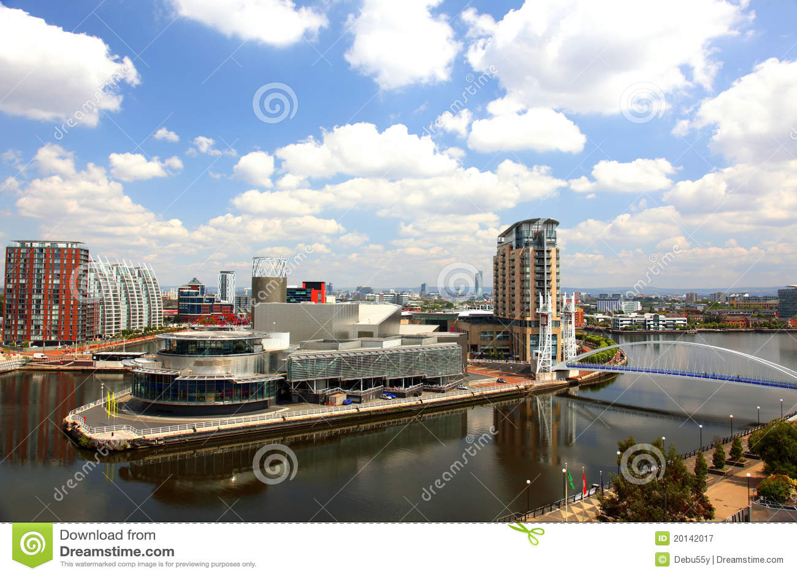 Panoramic view of Manchester, UK