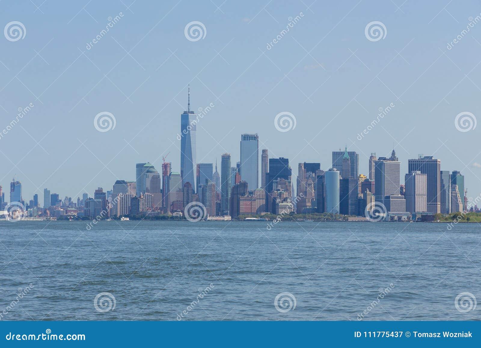 Panoramic view of Manhattan City skyline, New York.