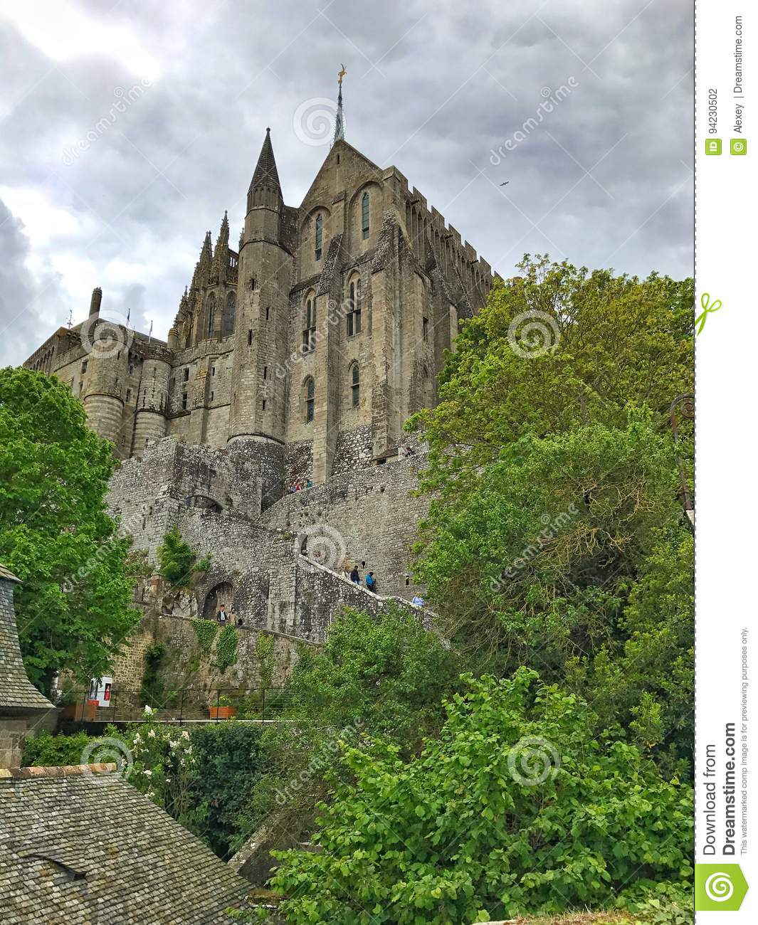 Panoramic View of Mont Saint Michele, Normandy, France