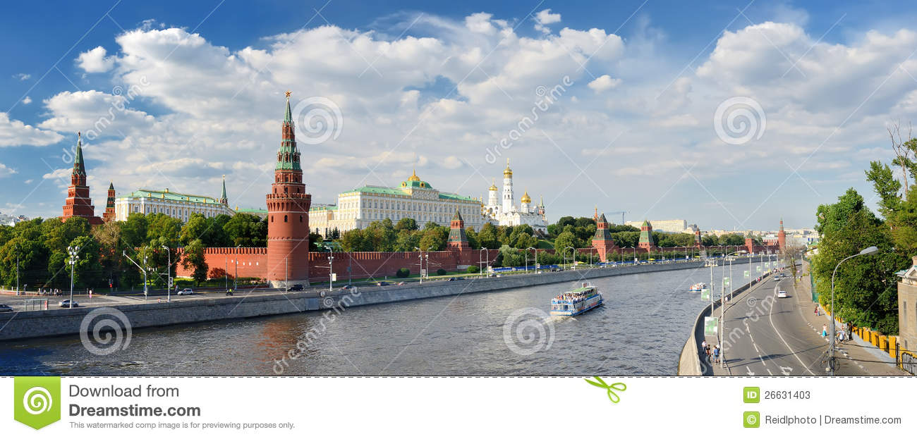 Panoramic view of Moscow Kremlin
