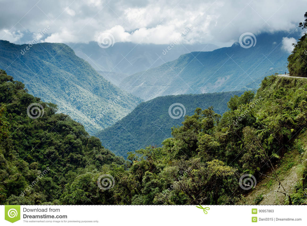 Panoramic view of the mountainous landscape of North Yongas