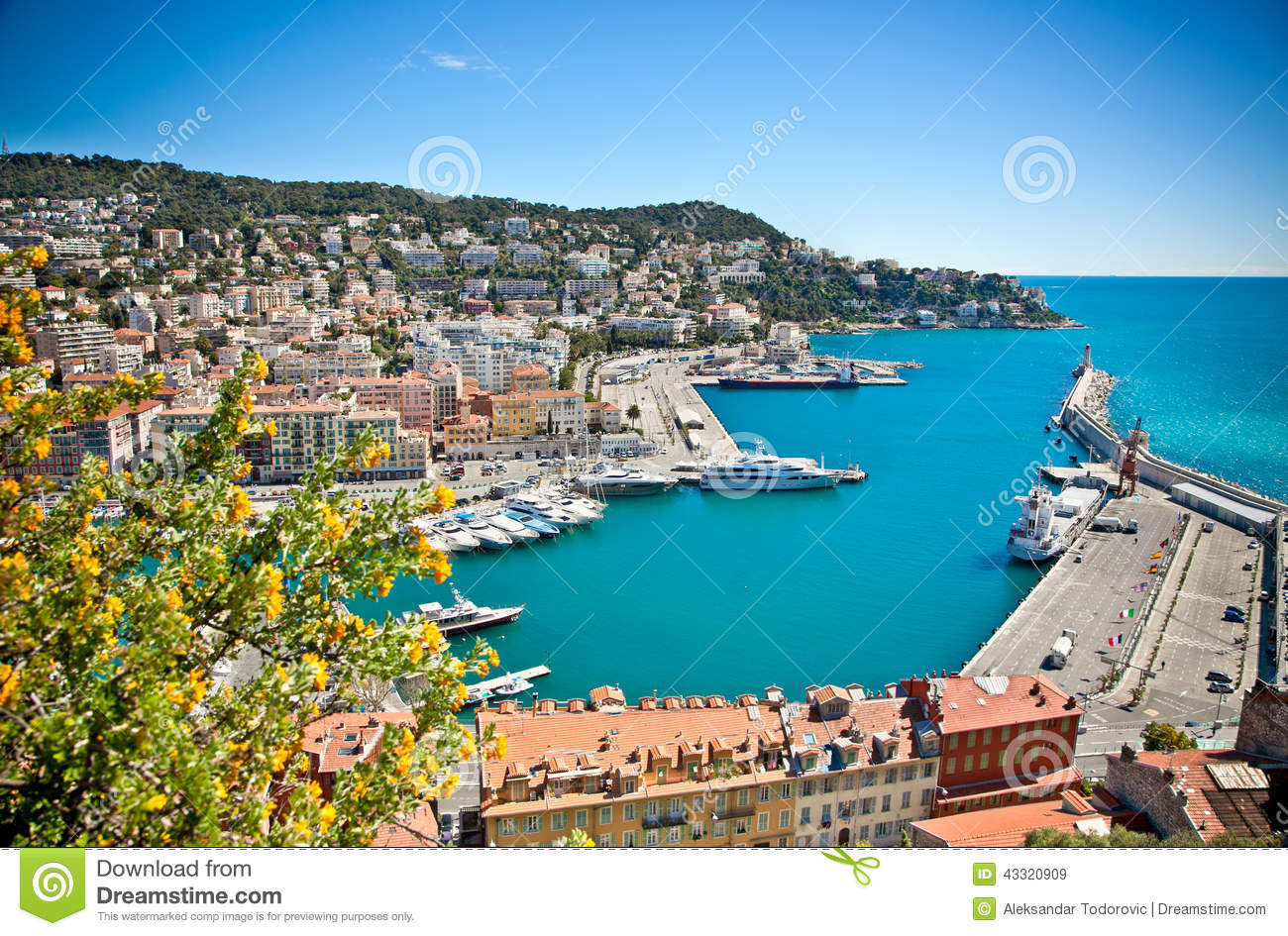 Panoramic view of nice harbour with blue sky stock photo image 43320909 - Consulat de france port gentil ...