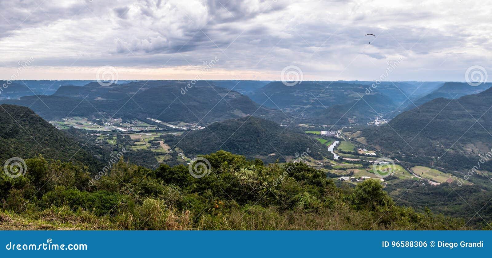 Panoramic View at Ninho das Aguias Eagle`s Nest in Nova Petropolis, Rio Grande do Sul, Brazil