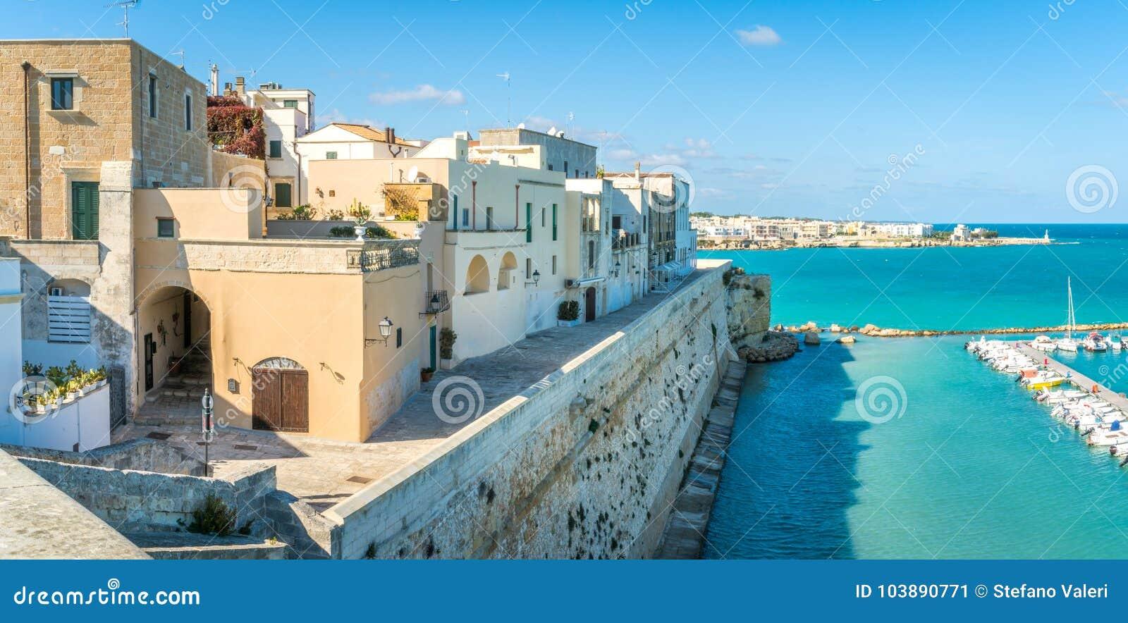 Panoramic view in Otranto, province of Lecce in the Salento peninsula, Puglia, Italy.