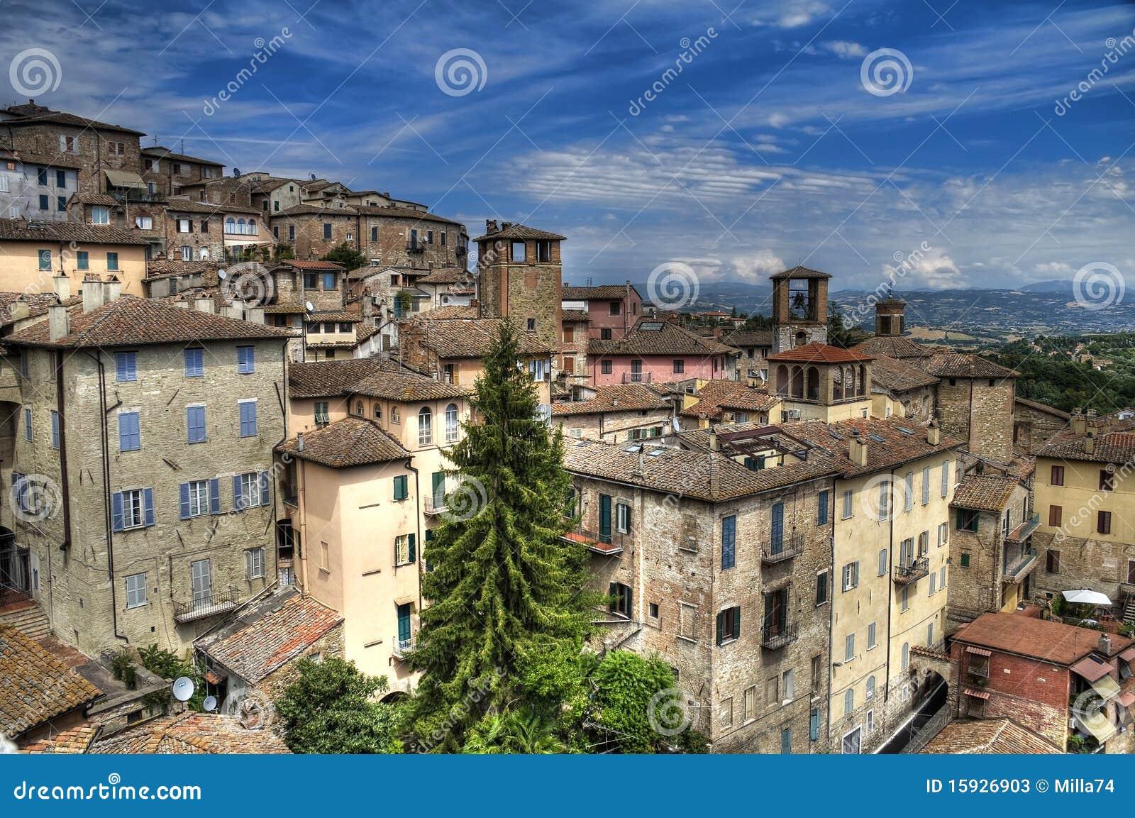 Panoramic view of Perugia. Umbria.