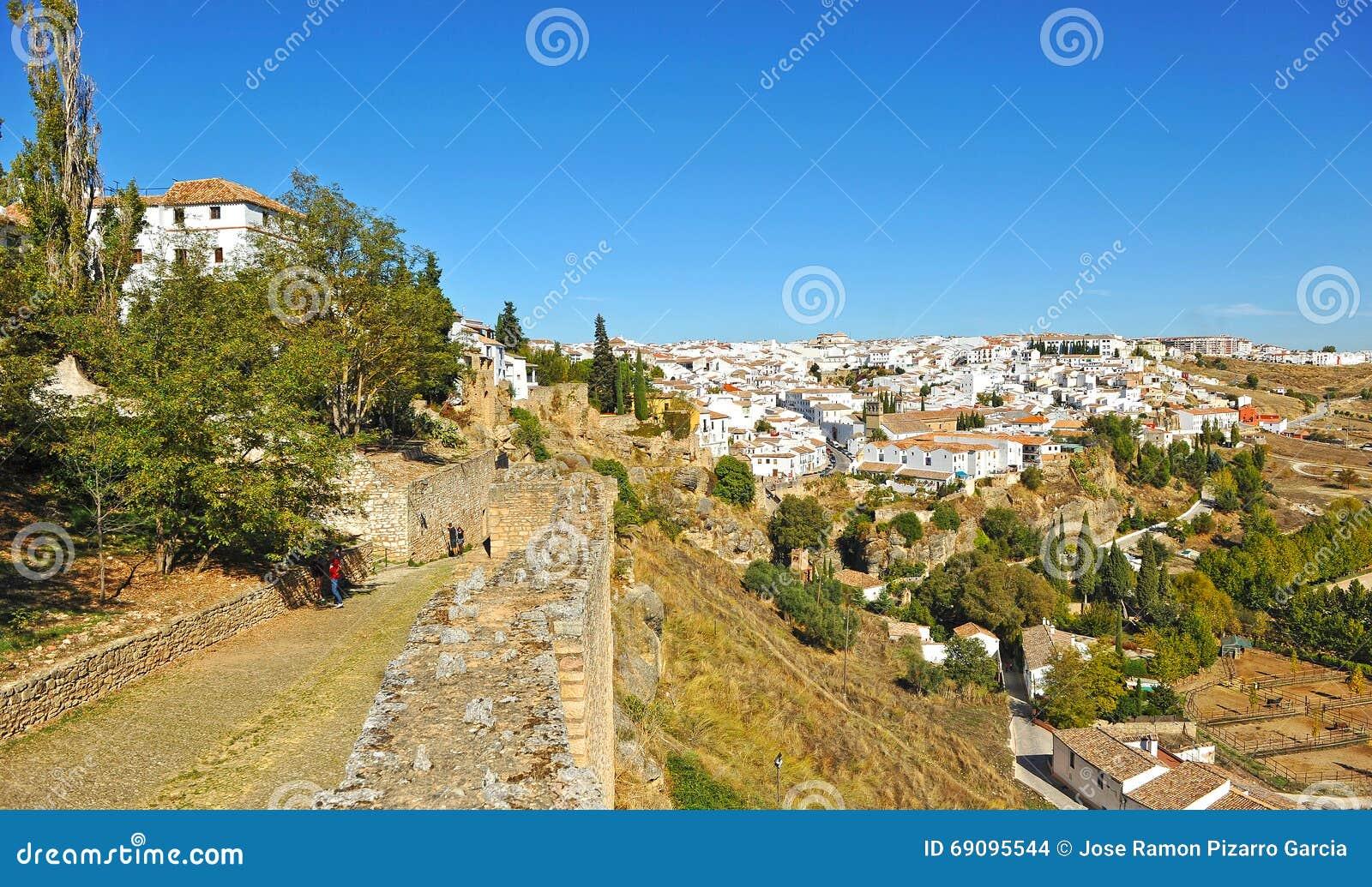 Panoramic view of Ronda, Malaga province, Spain
