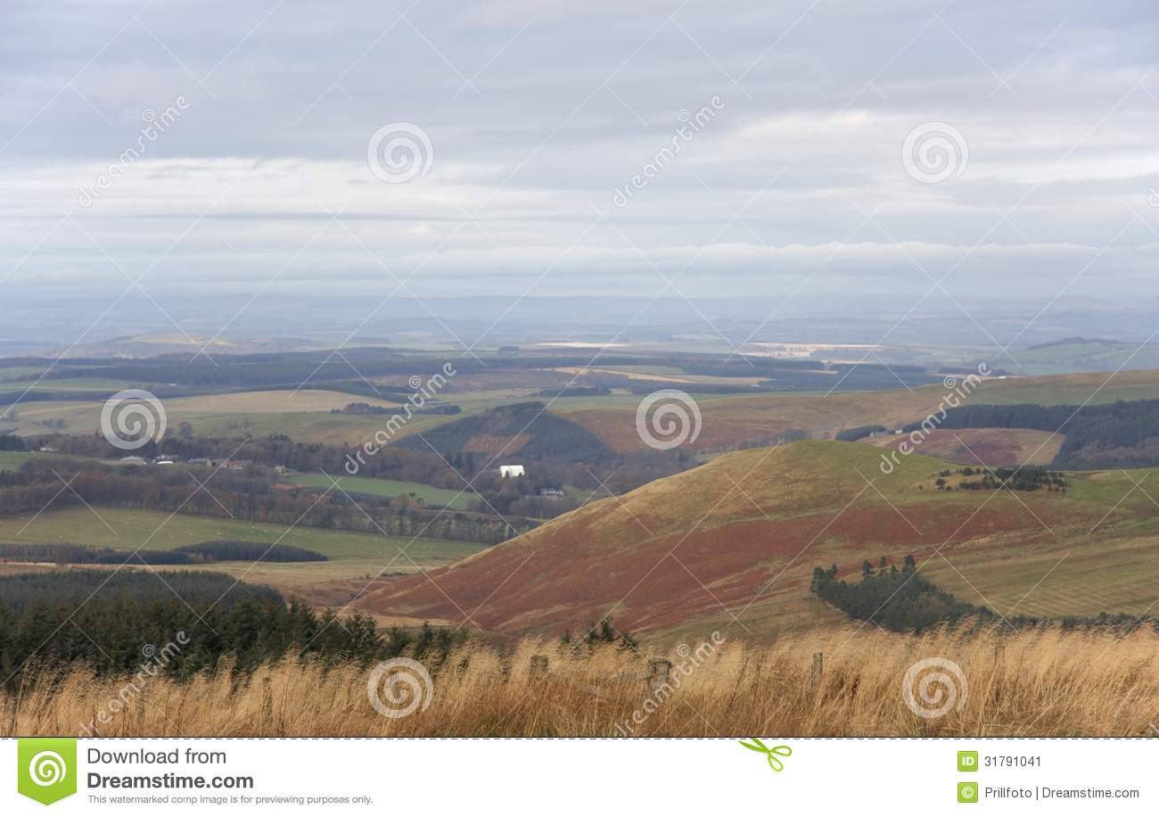 Panoramic view of the scottish frontier