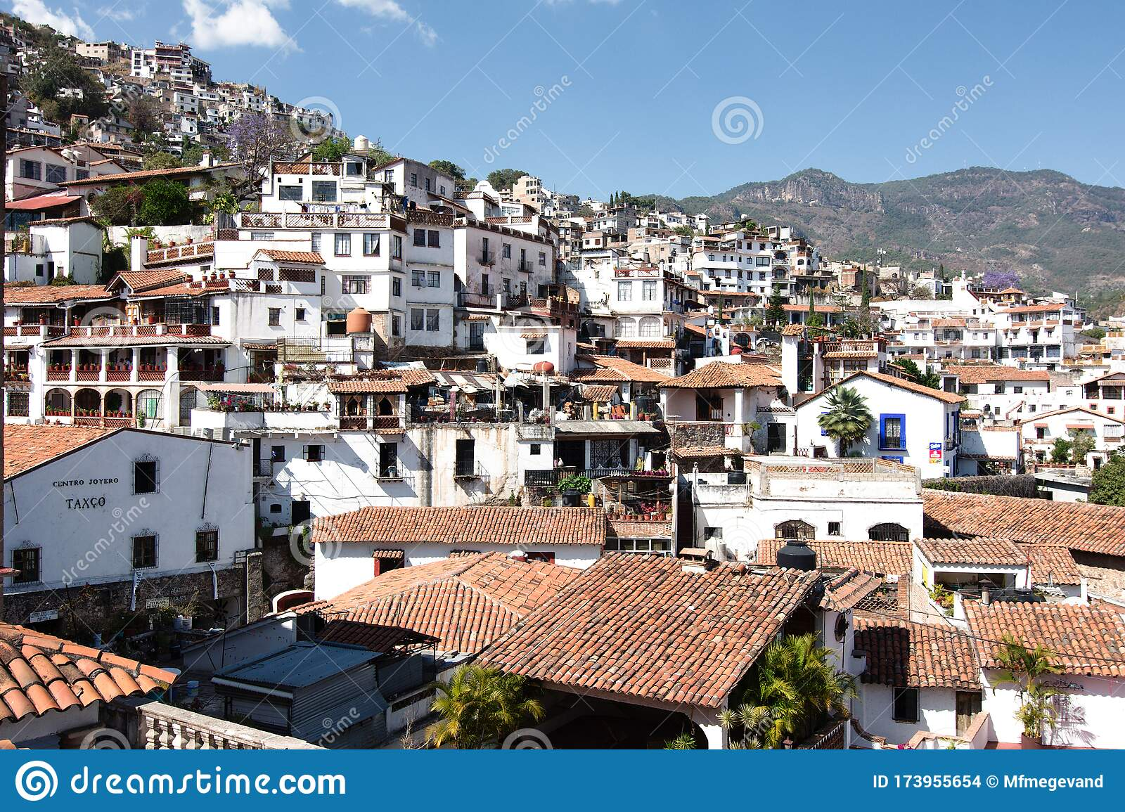 Panoramic View Of Taxco Mexico Stock Photo Image Of Landscape Holiday 173955654