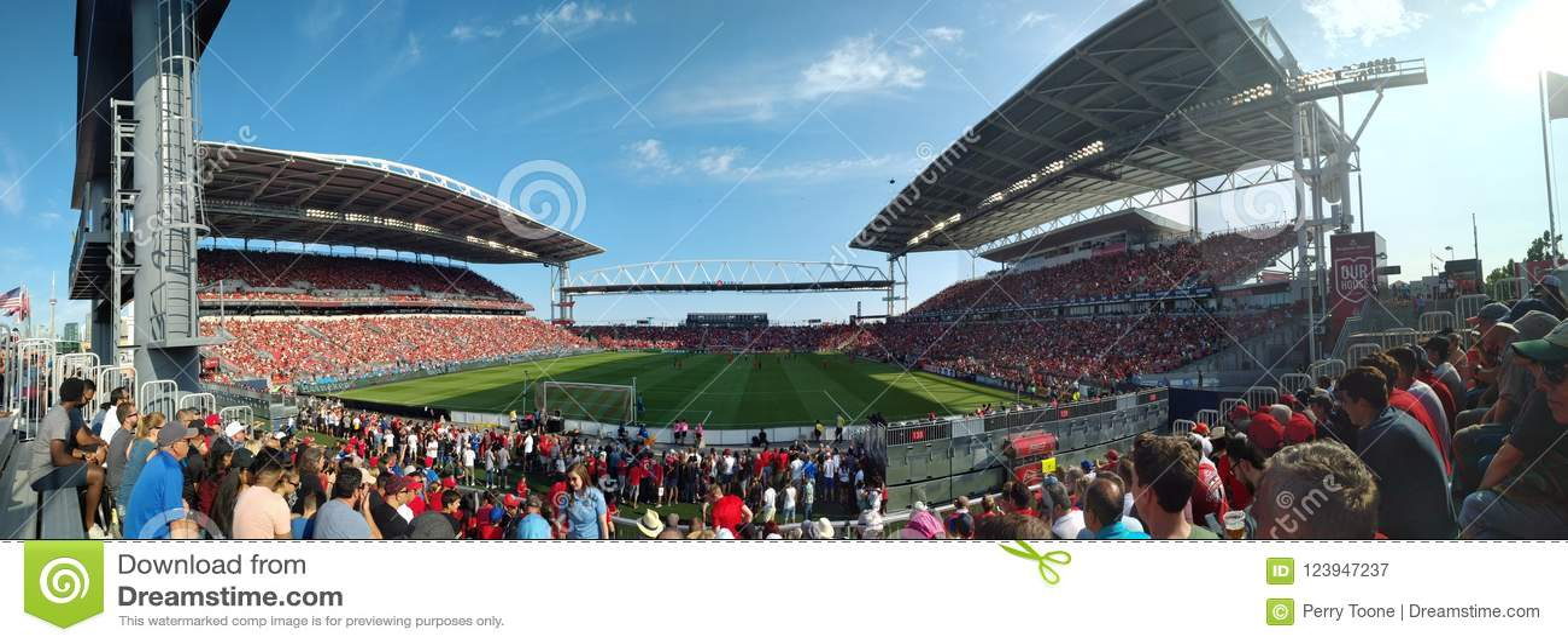 Panoramic view at Toronto FC