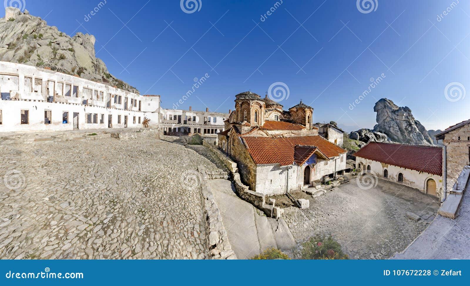 Panoramic view of Treskavec Monastery in Prilep, Macedonia