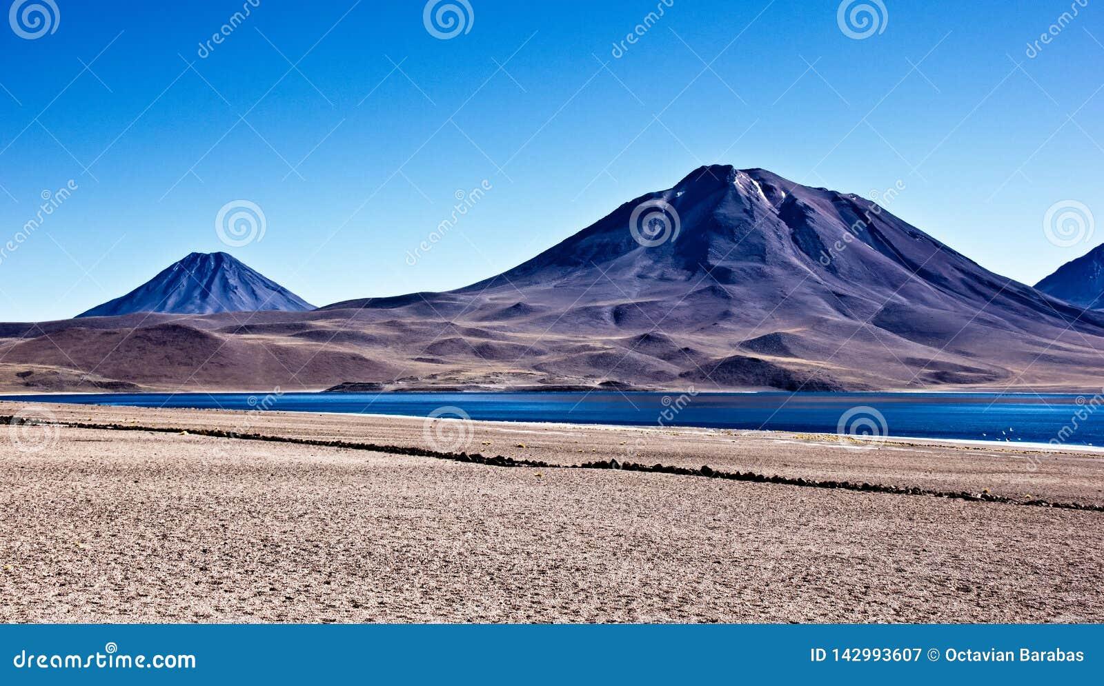 Volcanos in Altiplano in Chile