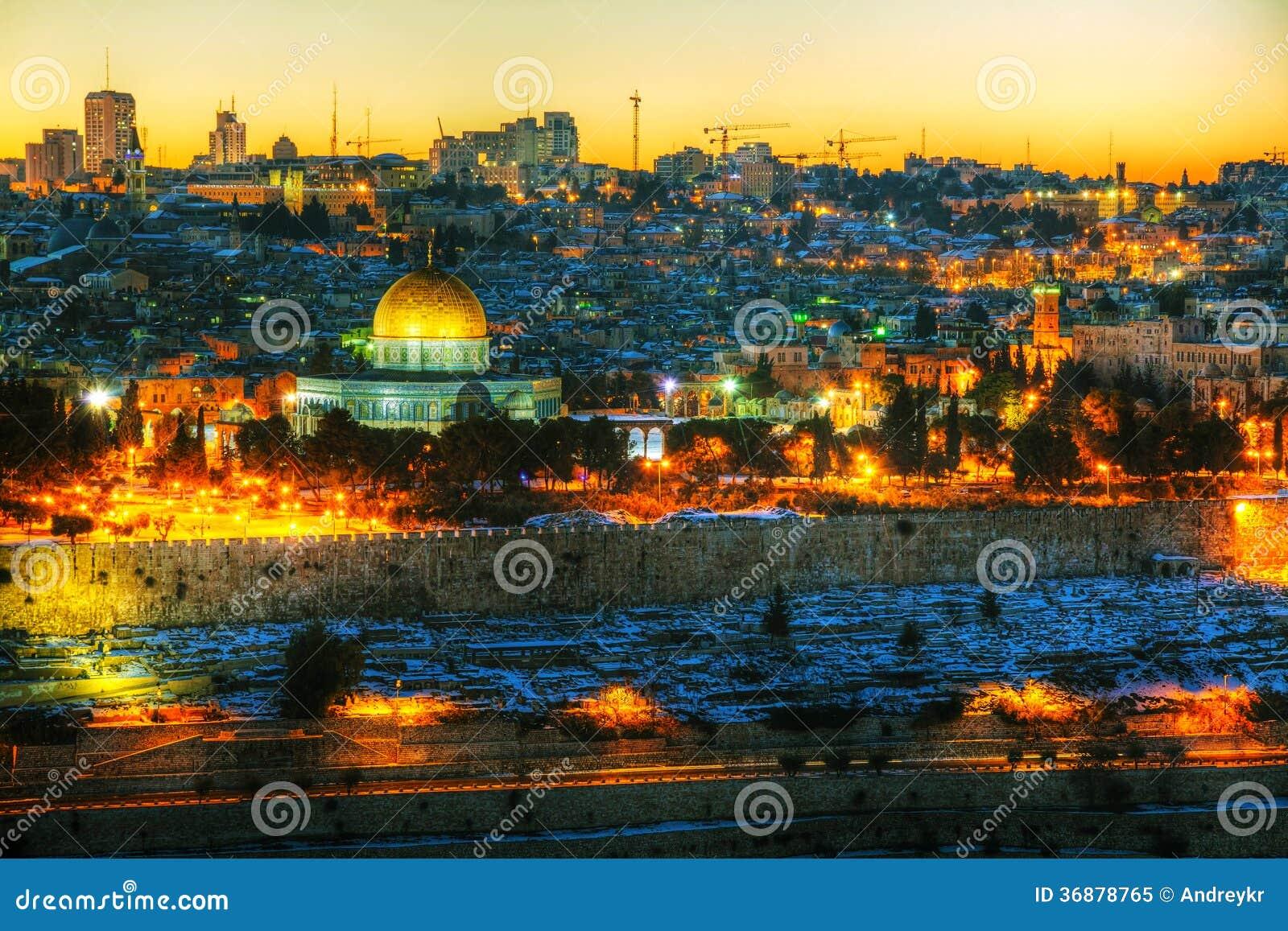 Download Panoramica Di Vecchia Città A Gerusalemme, Israele Immagine Stock - Immagine di cityscape, roccia: 36878765