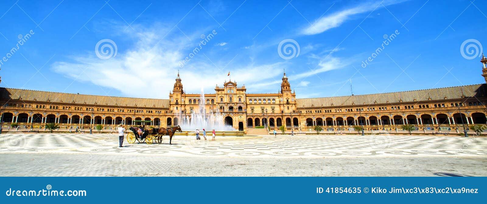 Panoramico della plaza de Espana, Siviglia