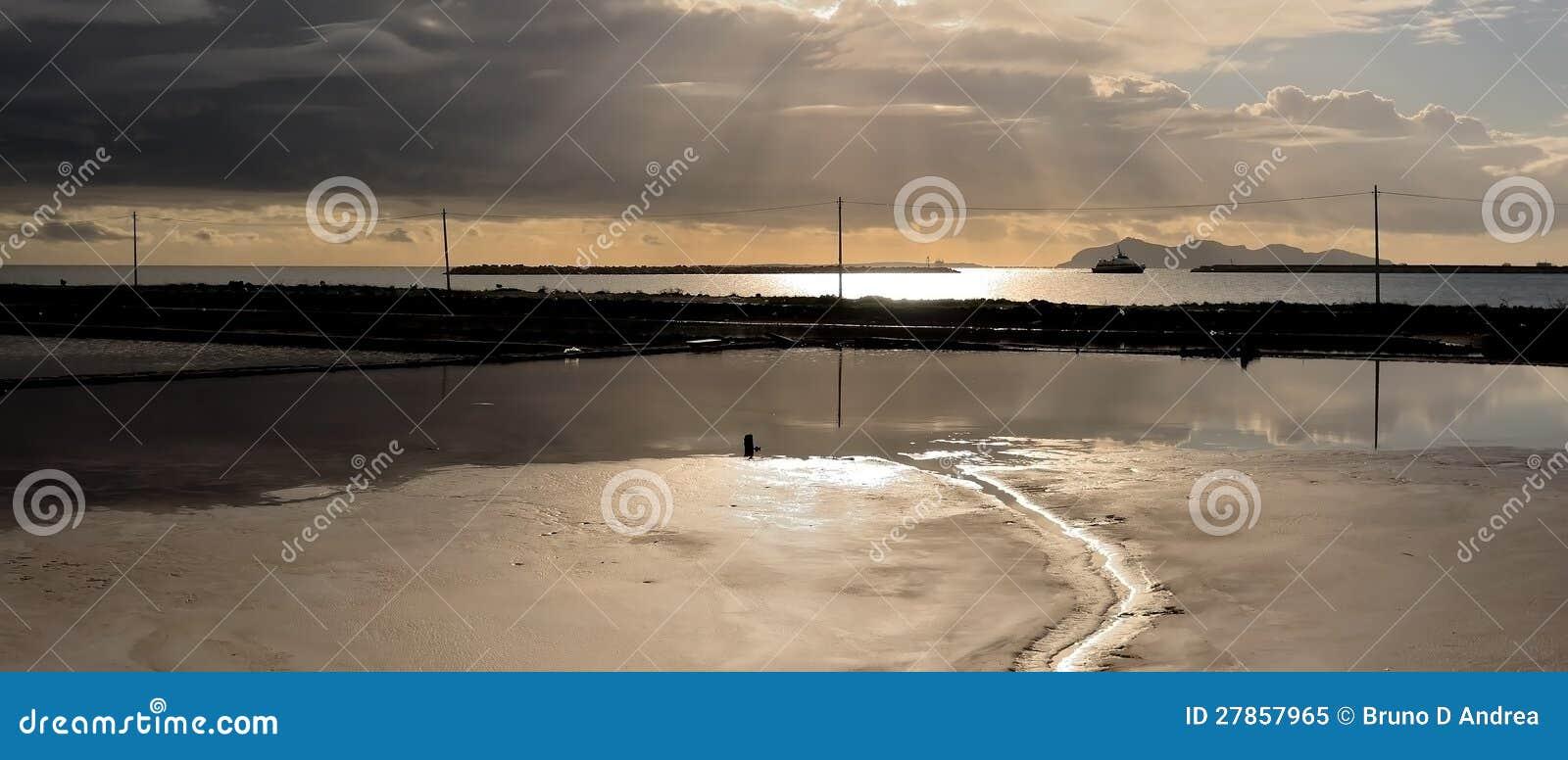 Panoramiczna solankowa formacja