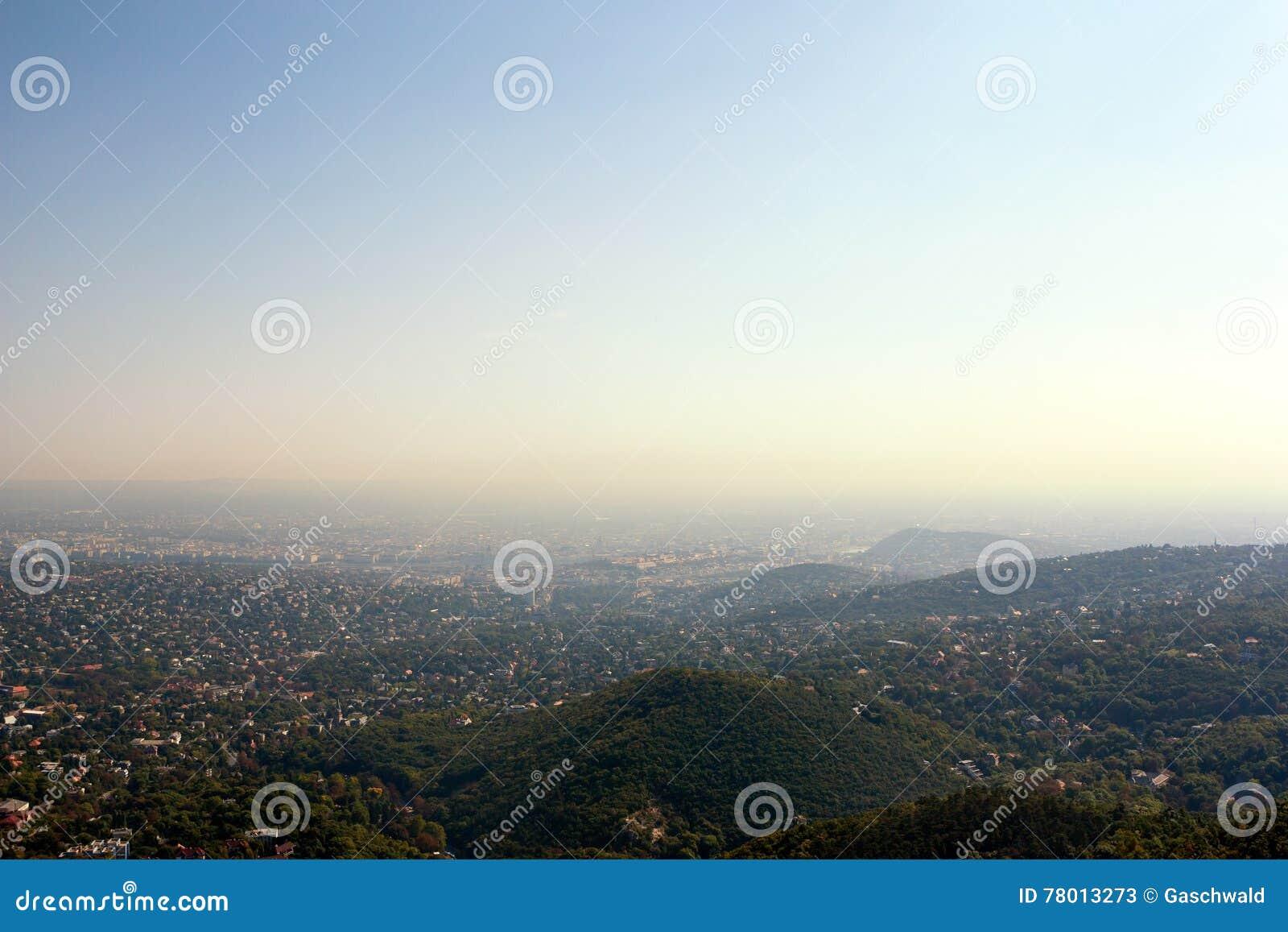 Panoramiczny Budapest widok Hungary