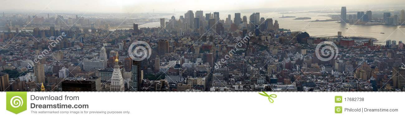 Panoramiczny w centrum Manhattan