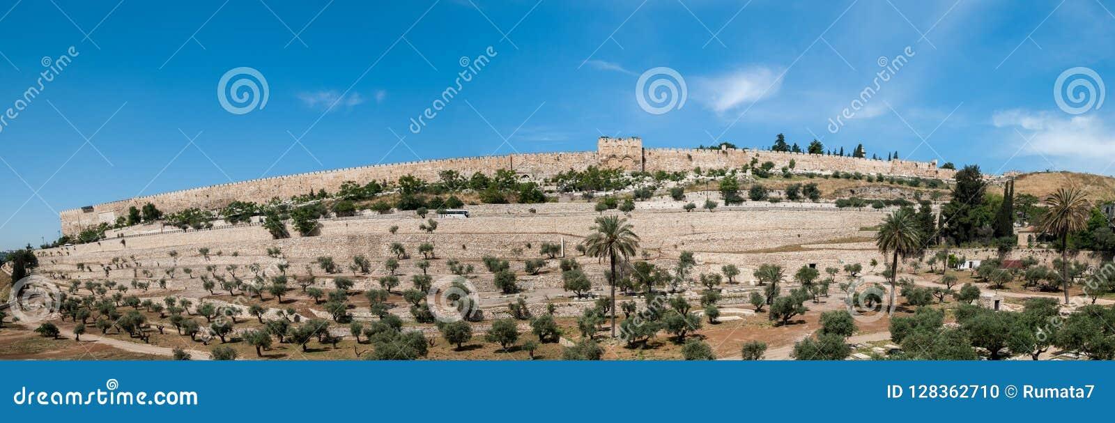 Panoramiczny widok Jerozolimskie ściany