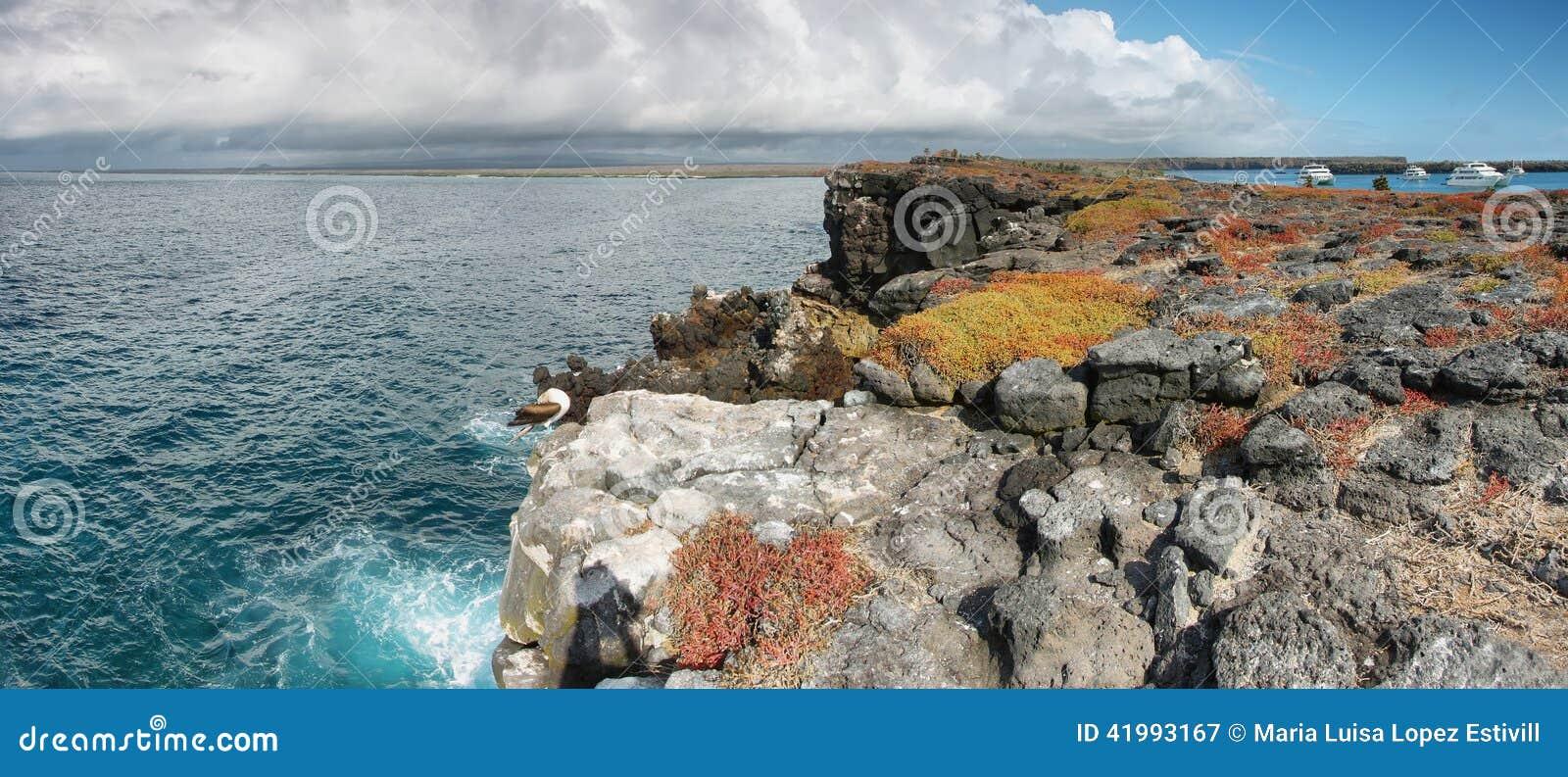 Panoramiczny widok Południowa plac wyspa