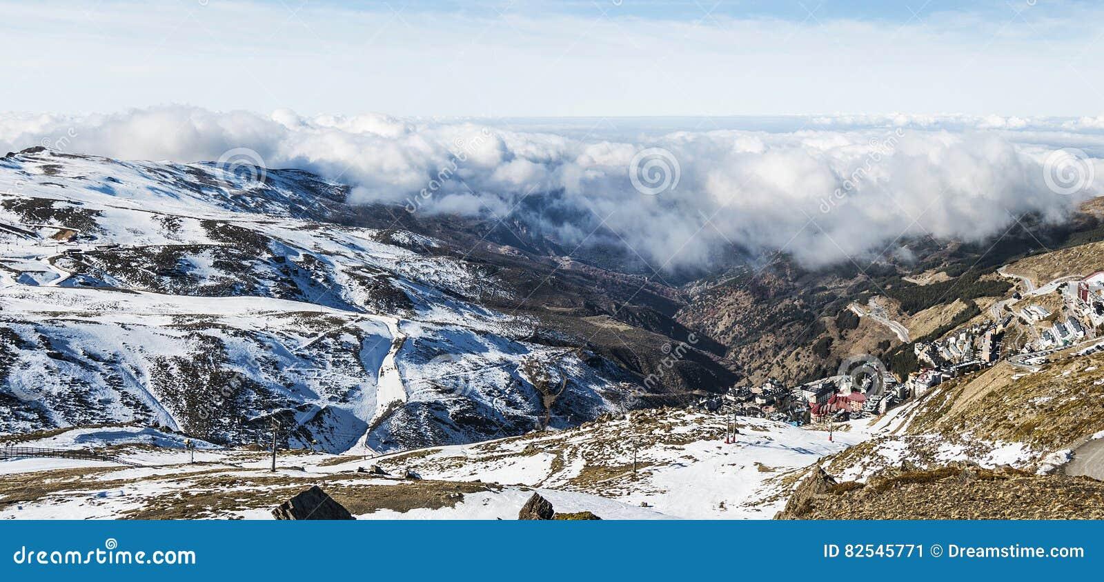 Panoramisch in Sierra Nevada