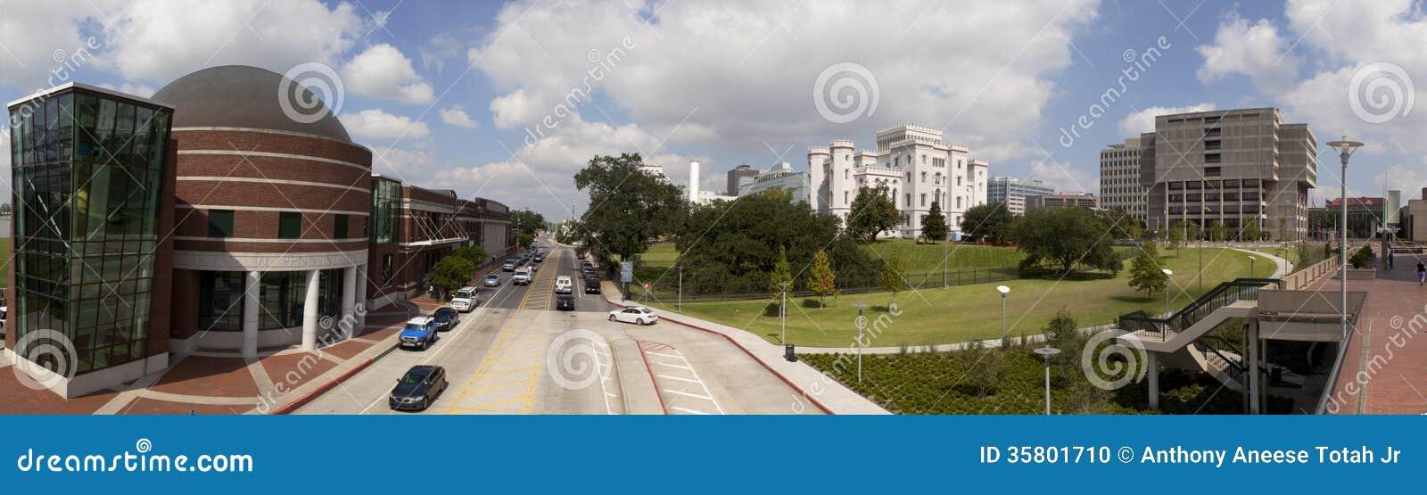 Panoramisch vom im Stadtzentrum gelegenen Baton Rouge, Louisiana