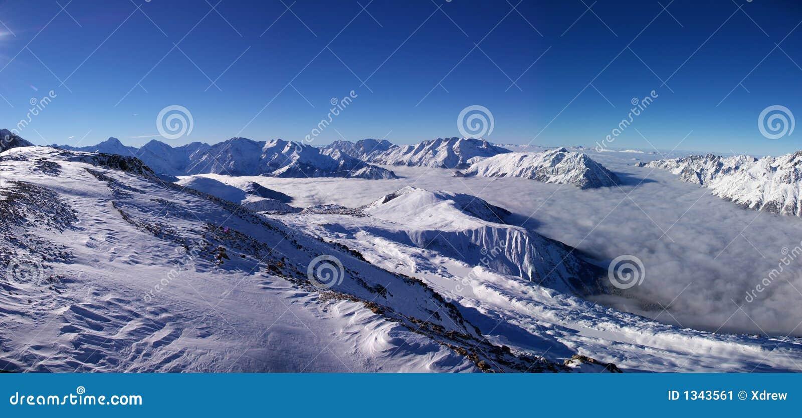 Panoramische Alpenansicht