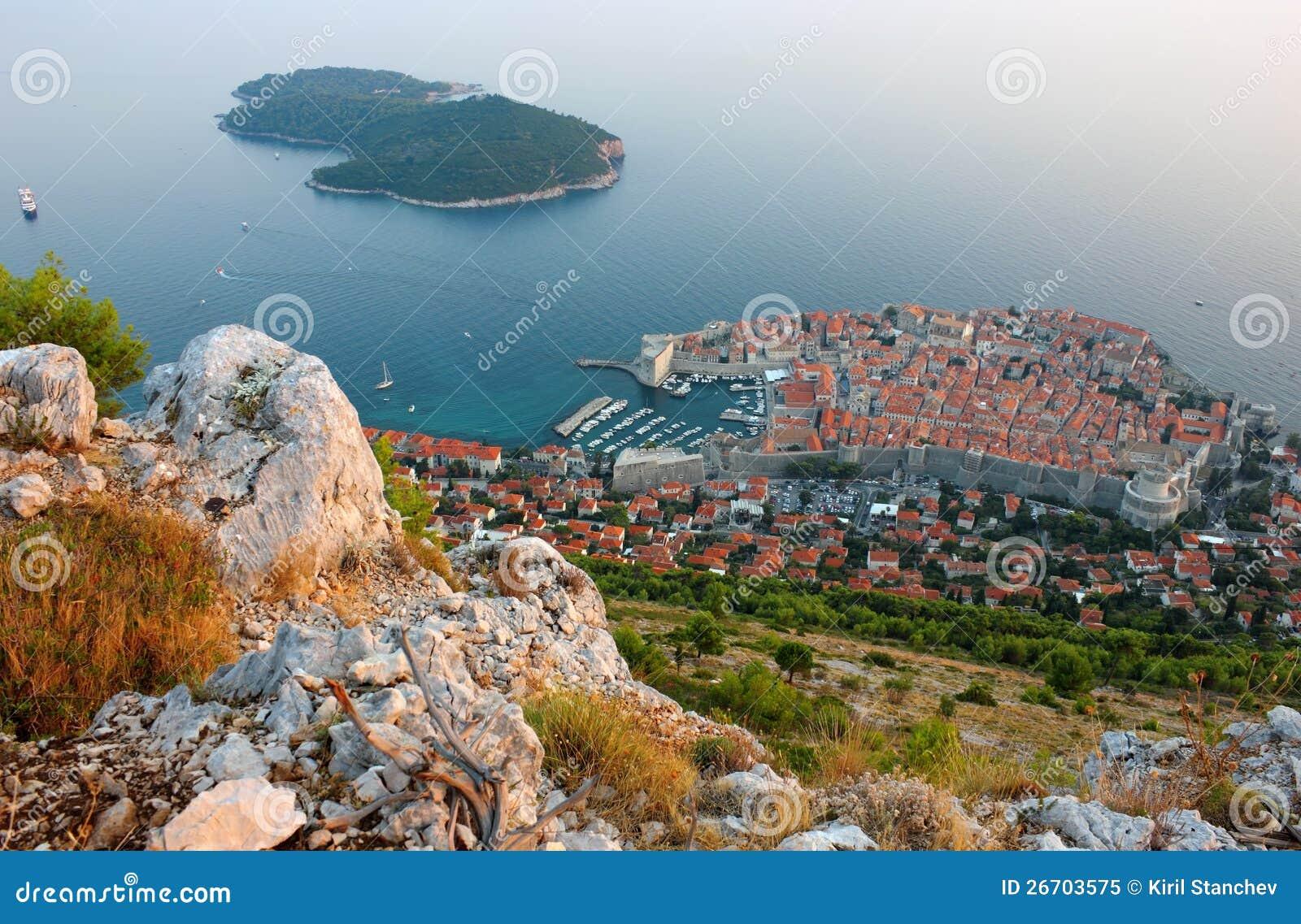 Panoramische Ansicht der alten Stadt Dubrovnik