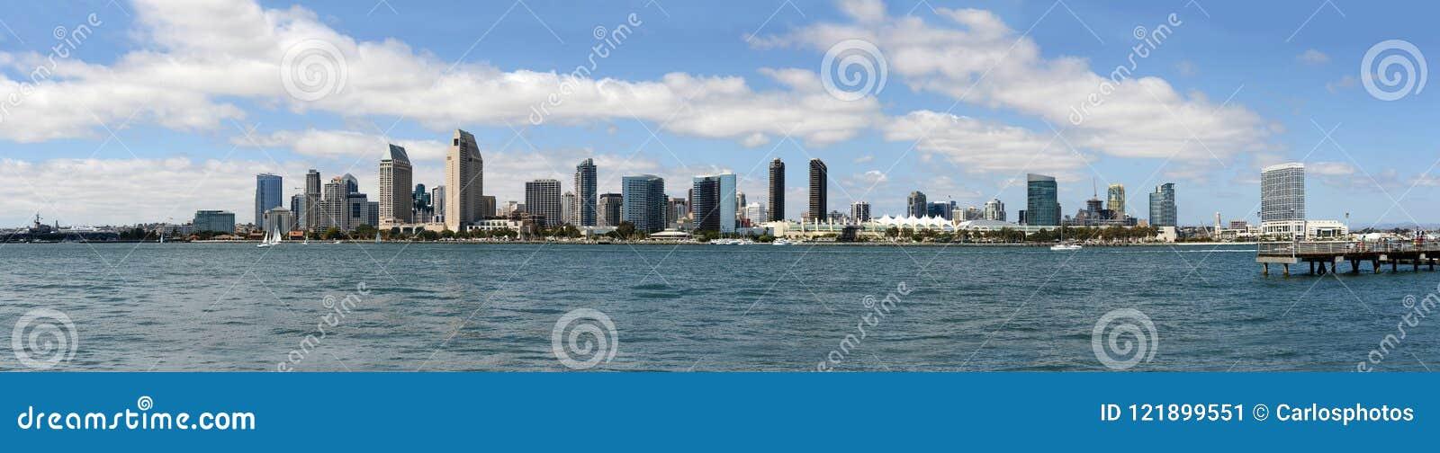 Panoramische Ansicht der Diego-Skyline