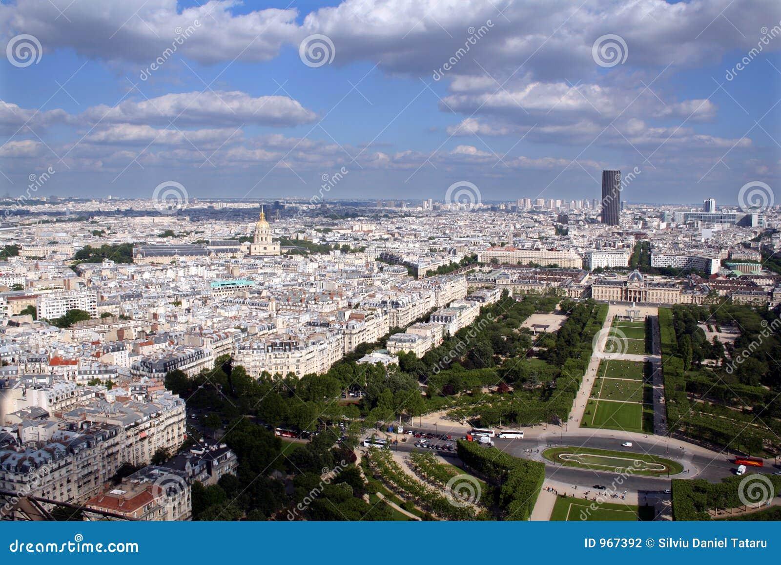 Panoramische Ansicht der Stadt von Paris, Frankreich