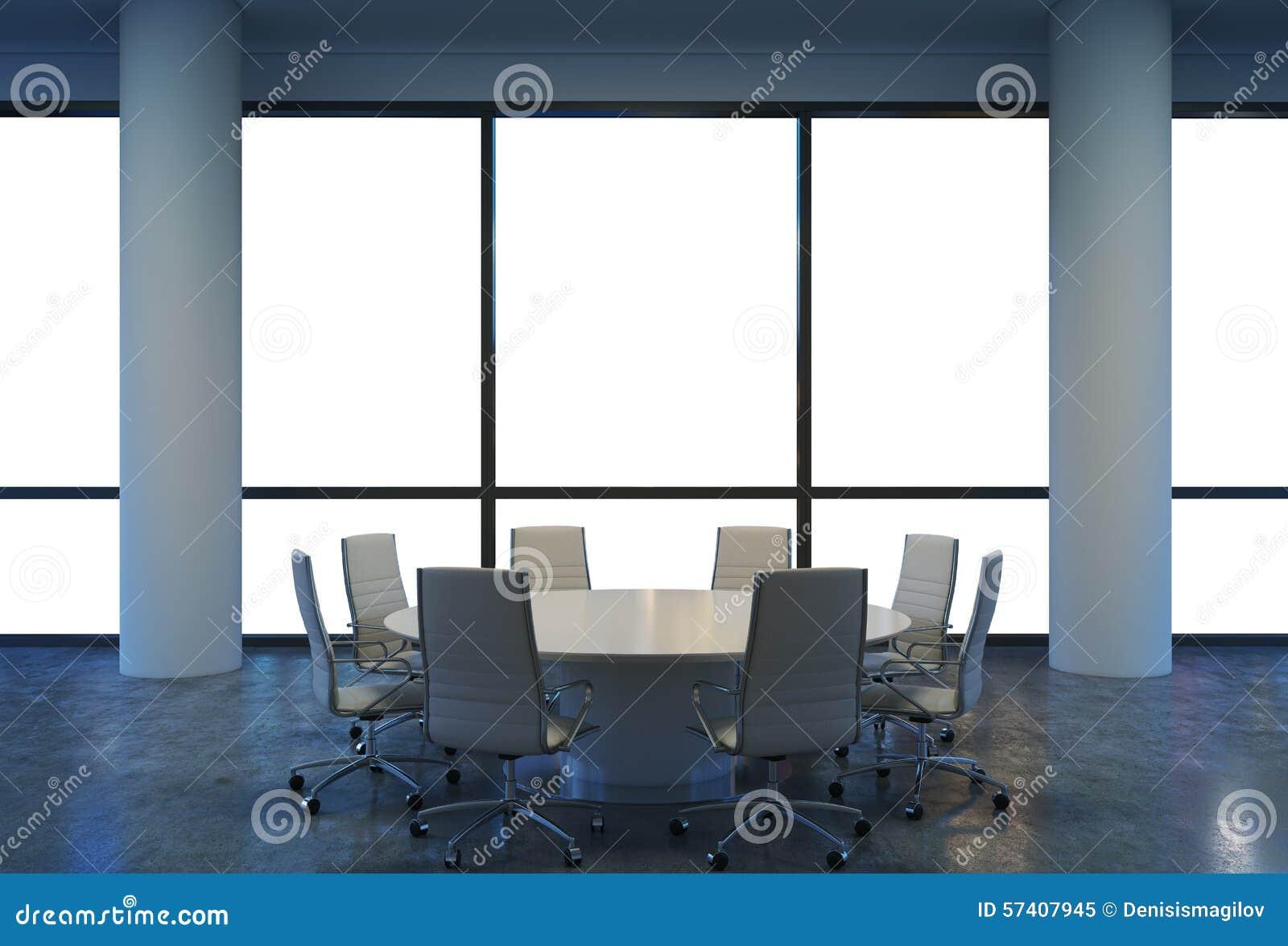 Panoramische conferentieruimte in modern bureau exemplaar