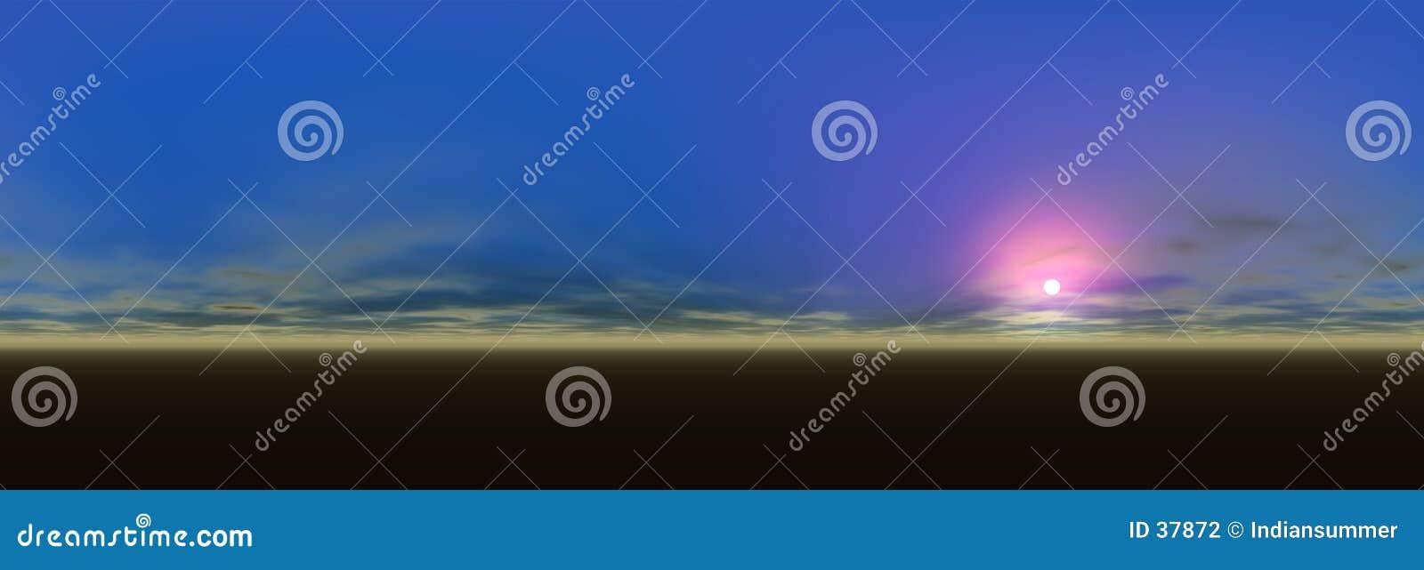 Panoramische landschapsmening