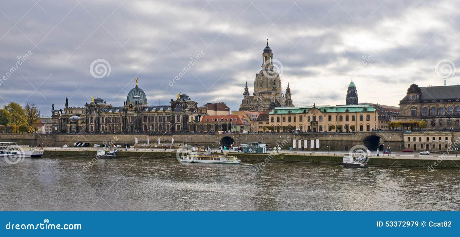 Panoramische Szene in Dresden, Deutschland