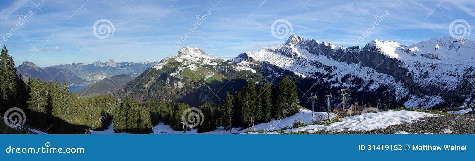 Panoramische Zwitserse bergen