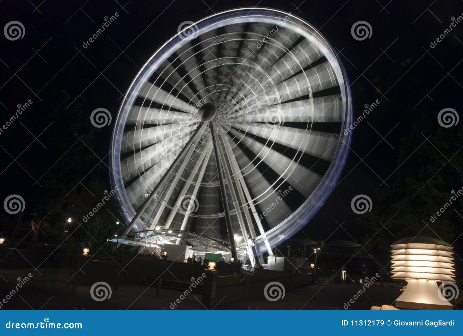 Panoramisches Rad bis zum Night, Brisbane, Australien