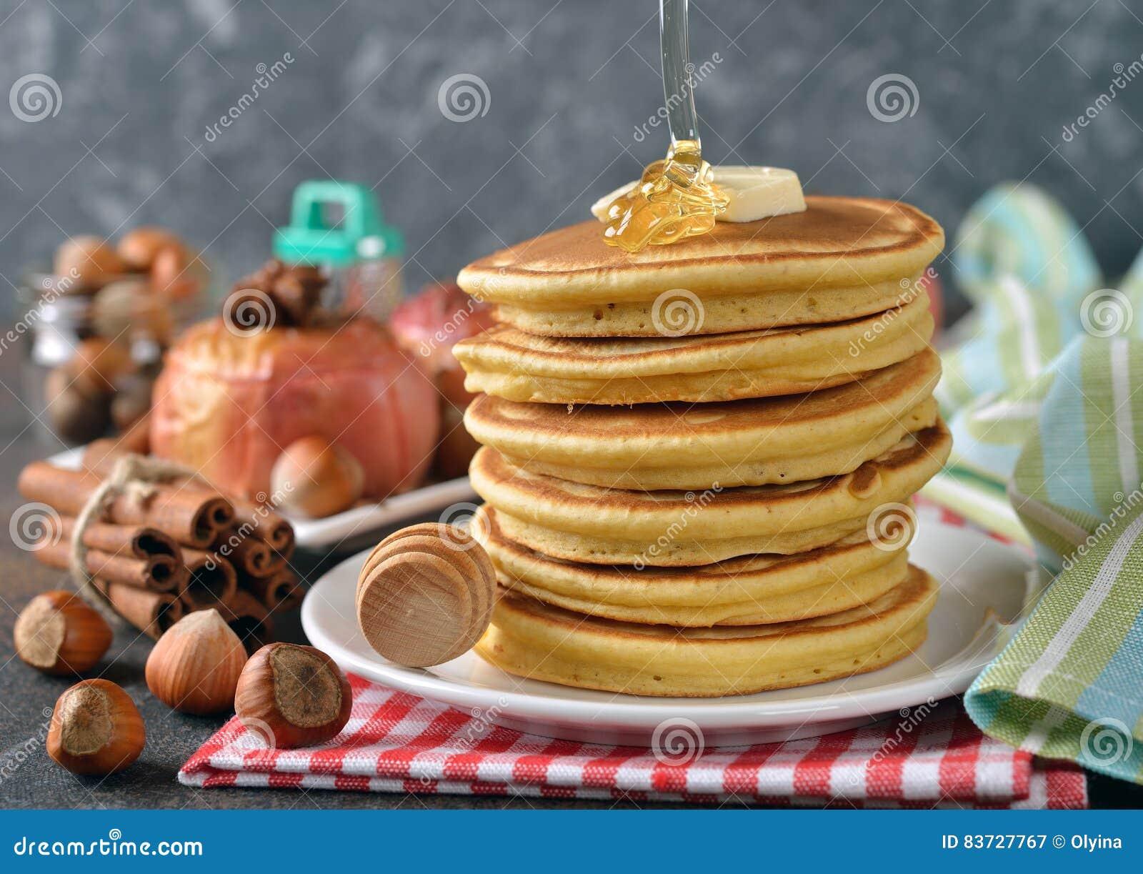 Panquecas com mel