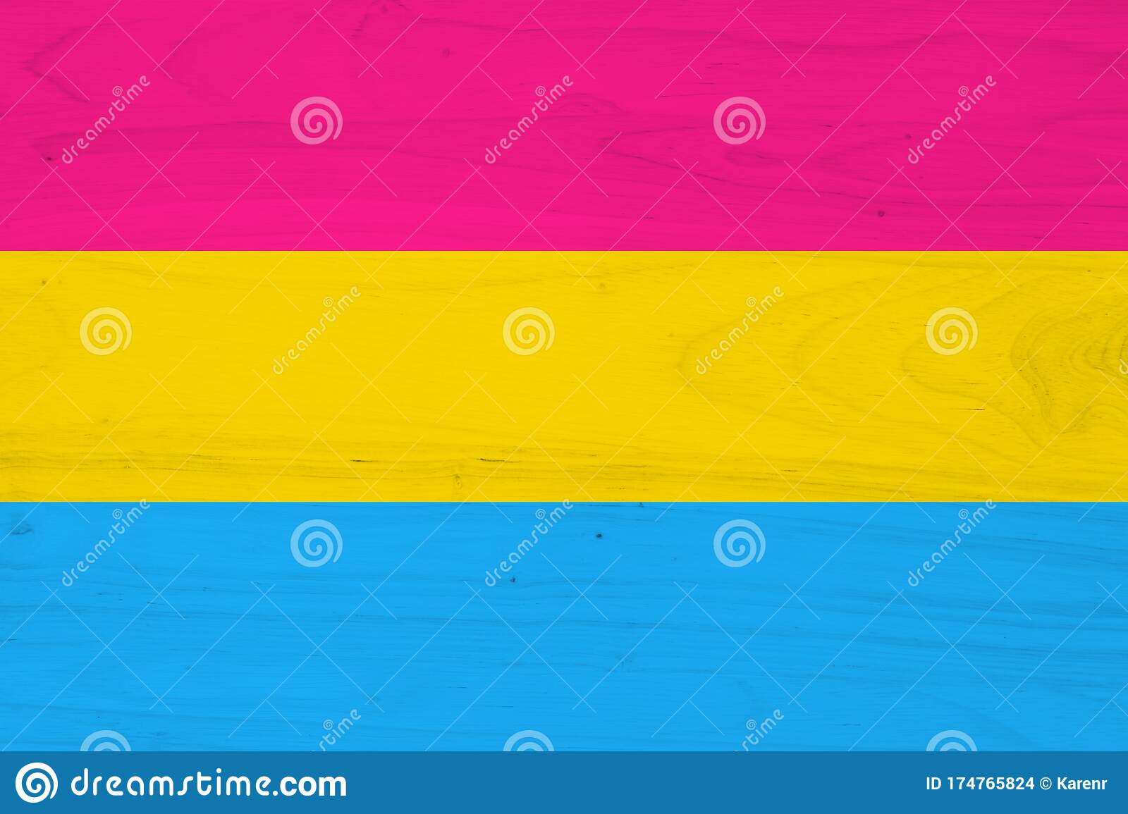 A Pansexual Flag On With Wood Texture Stock Photo Image Of Texture Sexuality 174765824