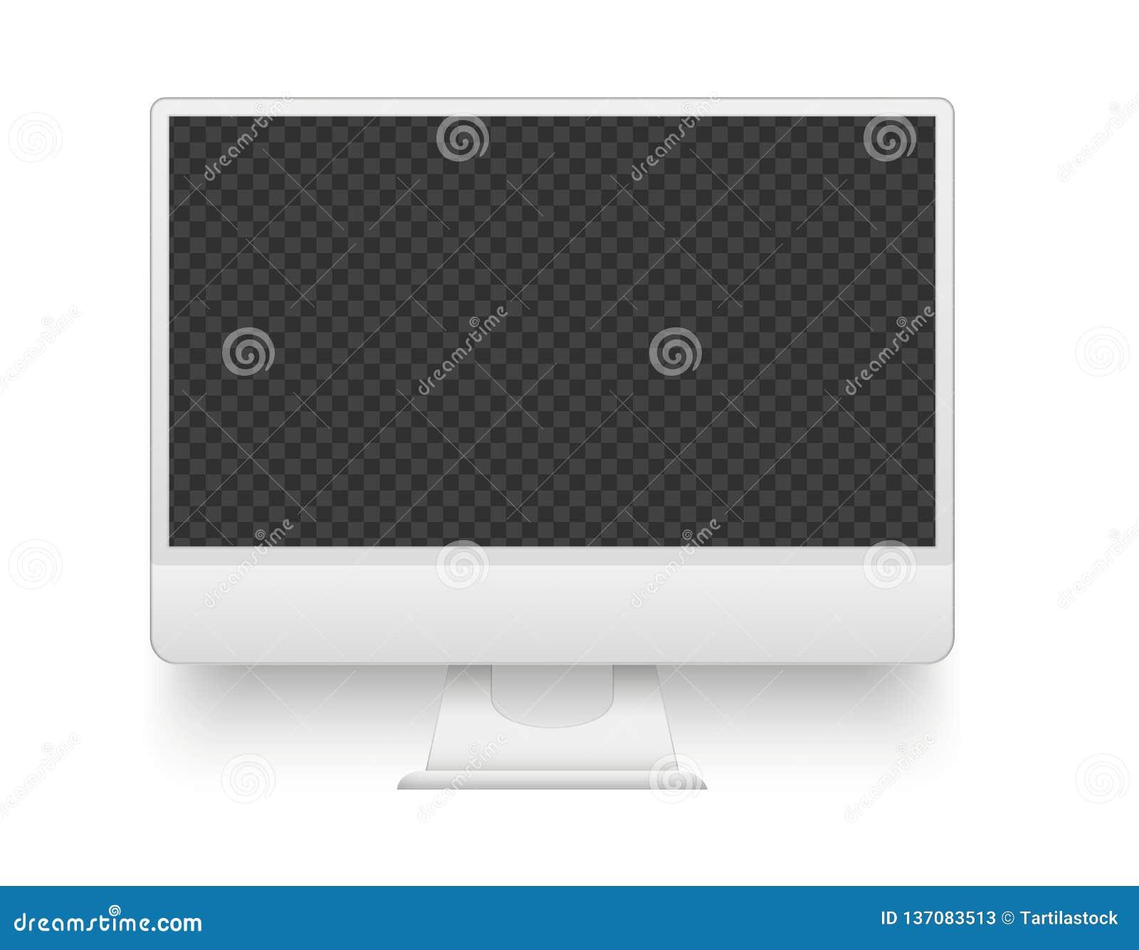 Pantalla blanca de la PC Ejemplo del vector del dispositivo de la electrónica de la maqueta