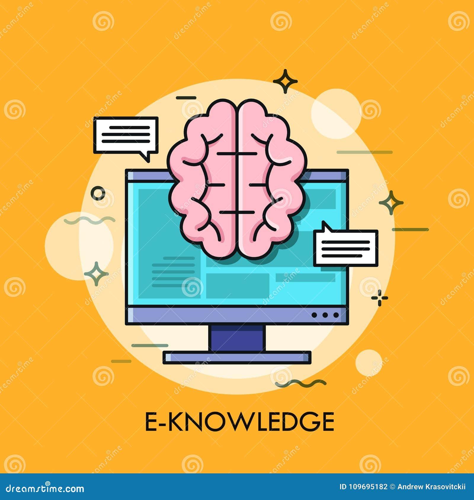 Pantalla de ordenador y cerebro