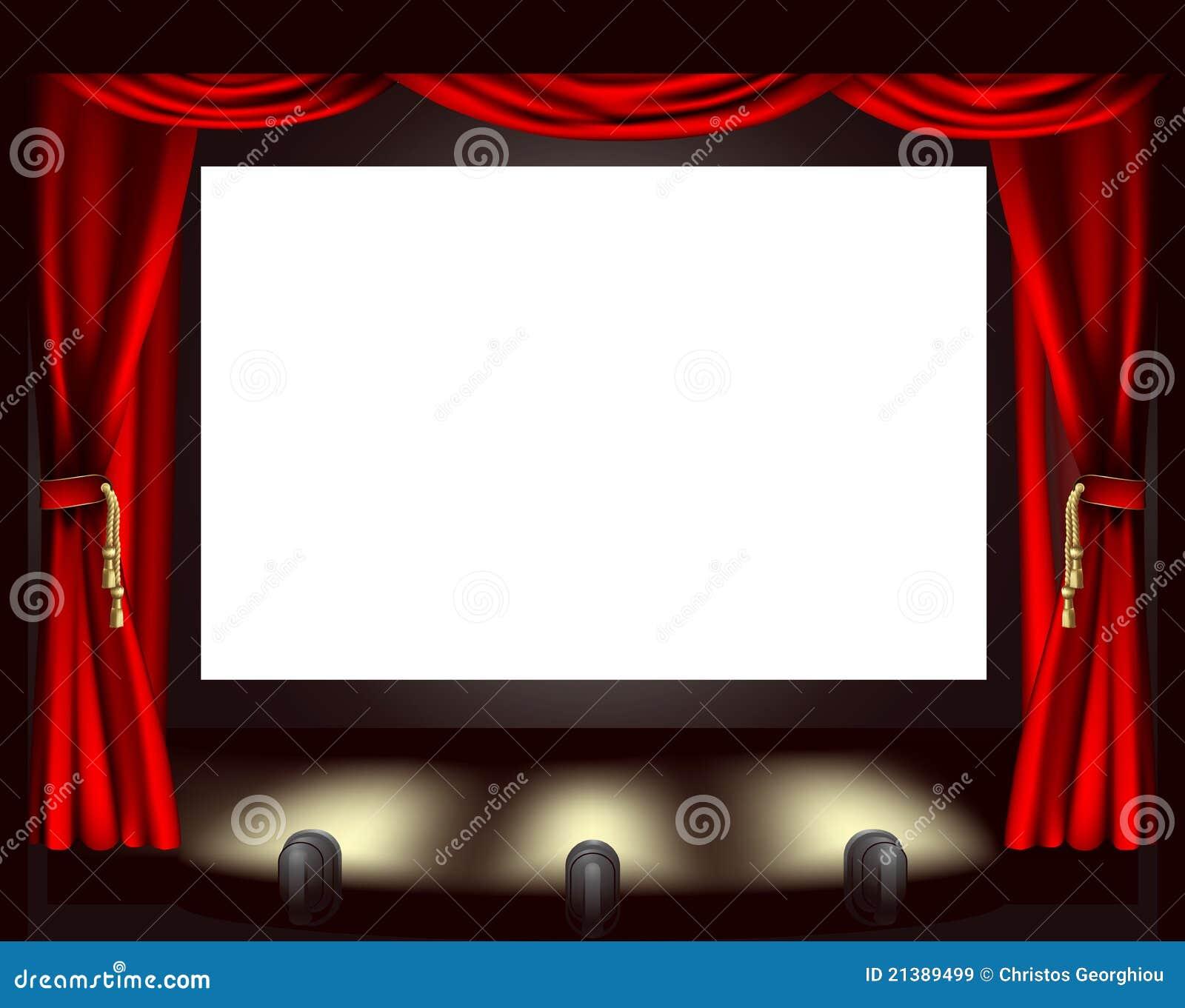 pantalla del cine ilustraci243n del vector ilustraci243n de