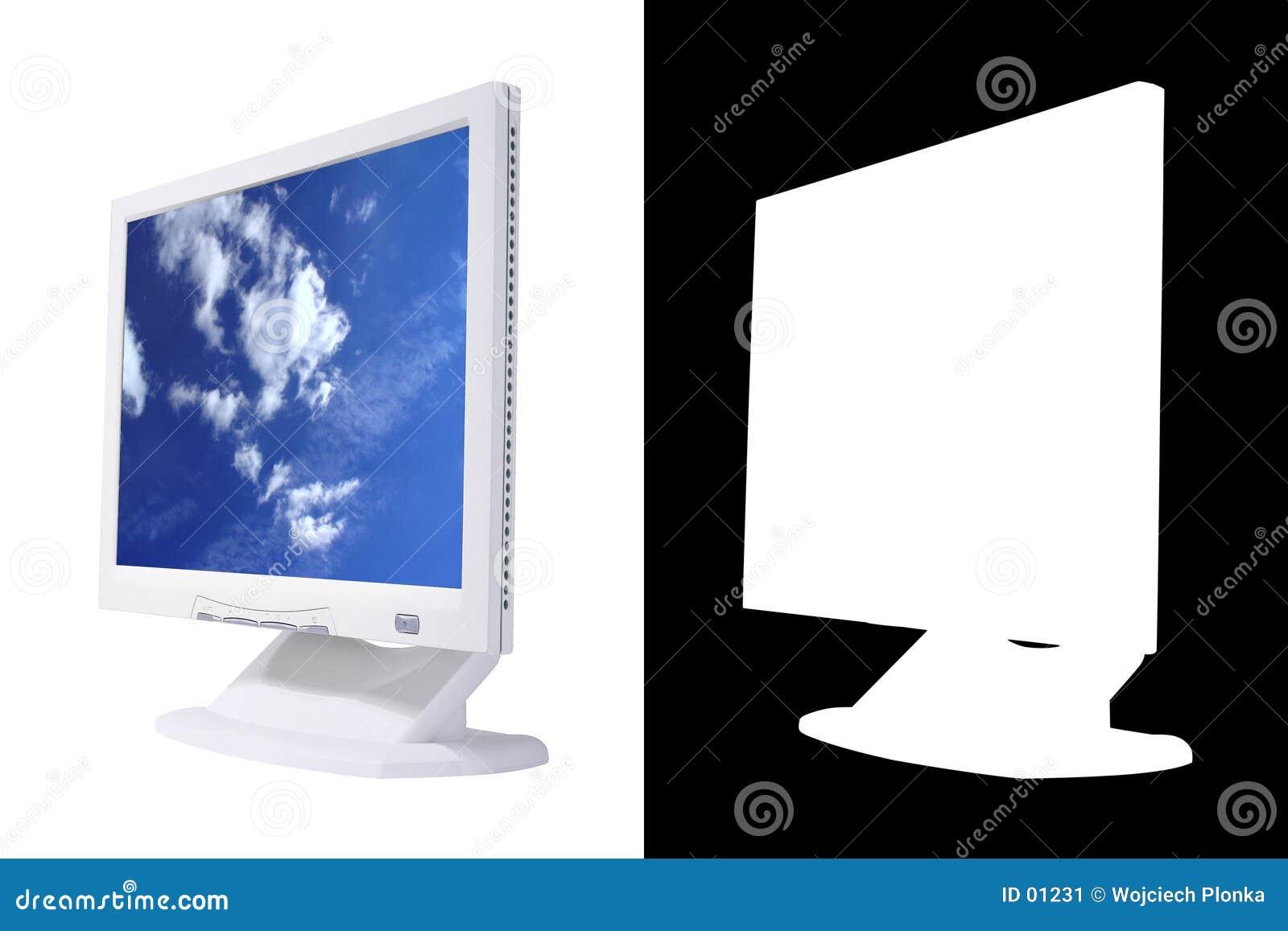 Pantalla del LCD con alfa