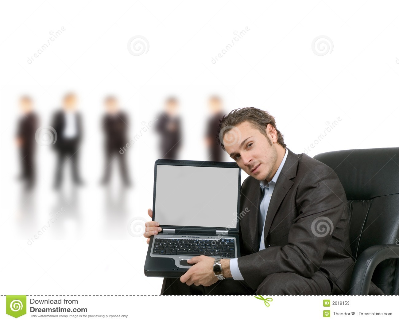 Pantalla en blanco de la computadora portátil