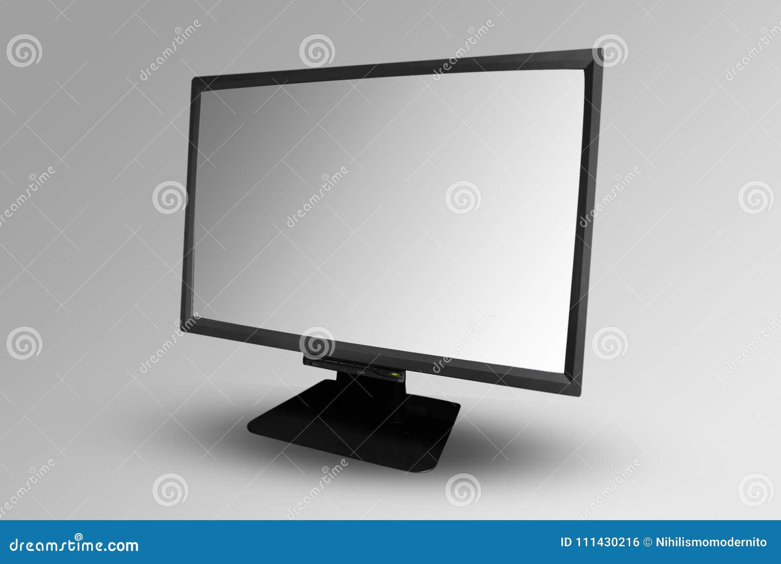 Pantalla en blanco de la maqueta de la pantalla de ordenador fácil corregir