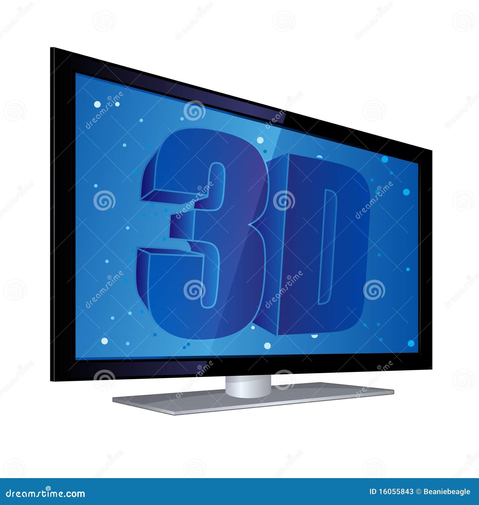 Pantalla plana 3d tv fotos de archivo imagen 16055843 - Television pequena plana ...