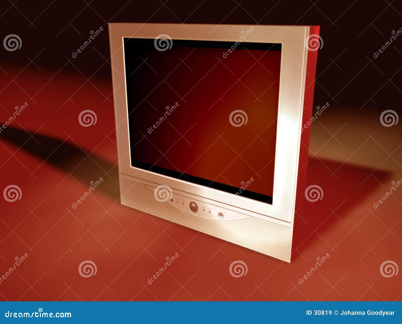 Download Pantalla plana TV 3 stock de ilustración. Ilustración de canales - 30819