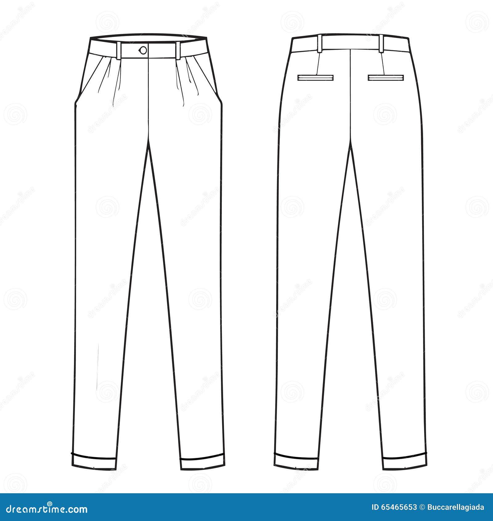 Pantalone del classico dell 39 abbigliamento maschile for Disegno del piano online